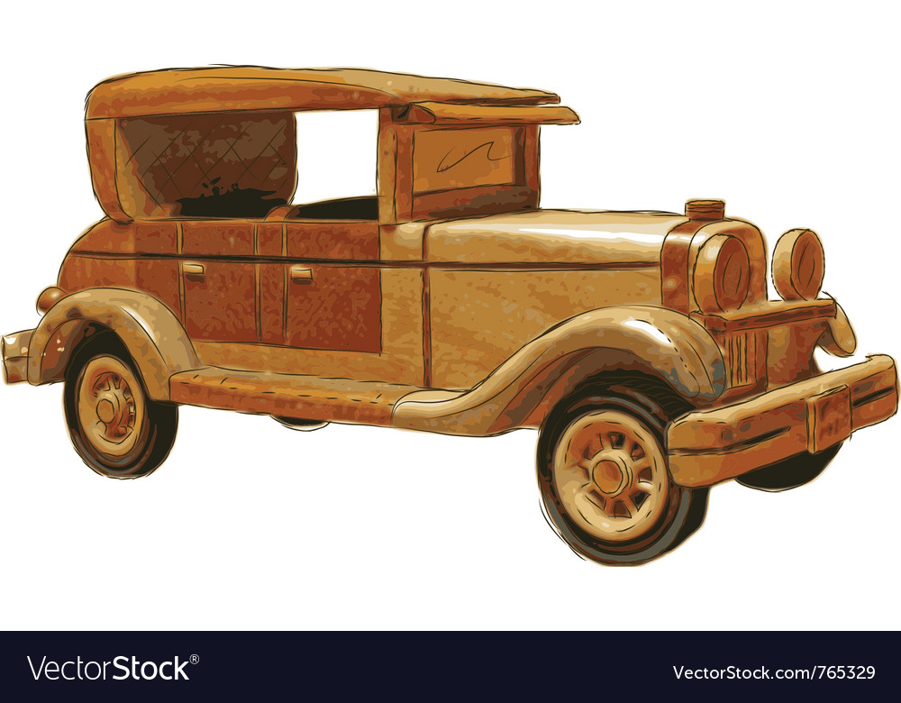 Wood toy car vector | Price: 3 Credit (USD $3)