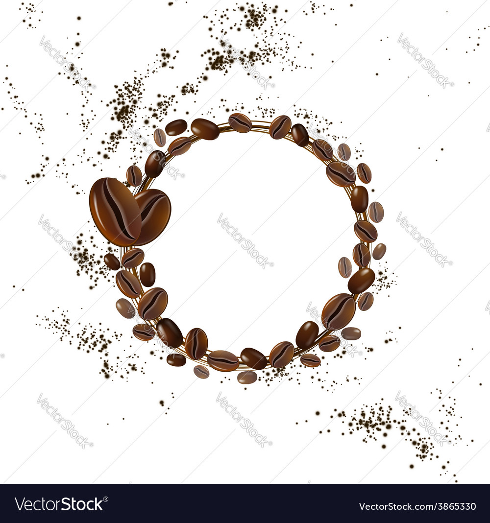 Background coffee beans vector | Price: 1 Credit (USD $1)