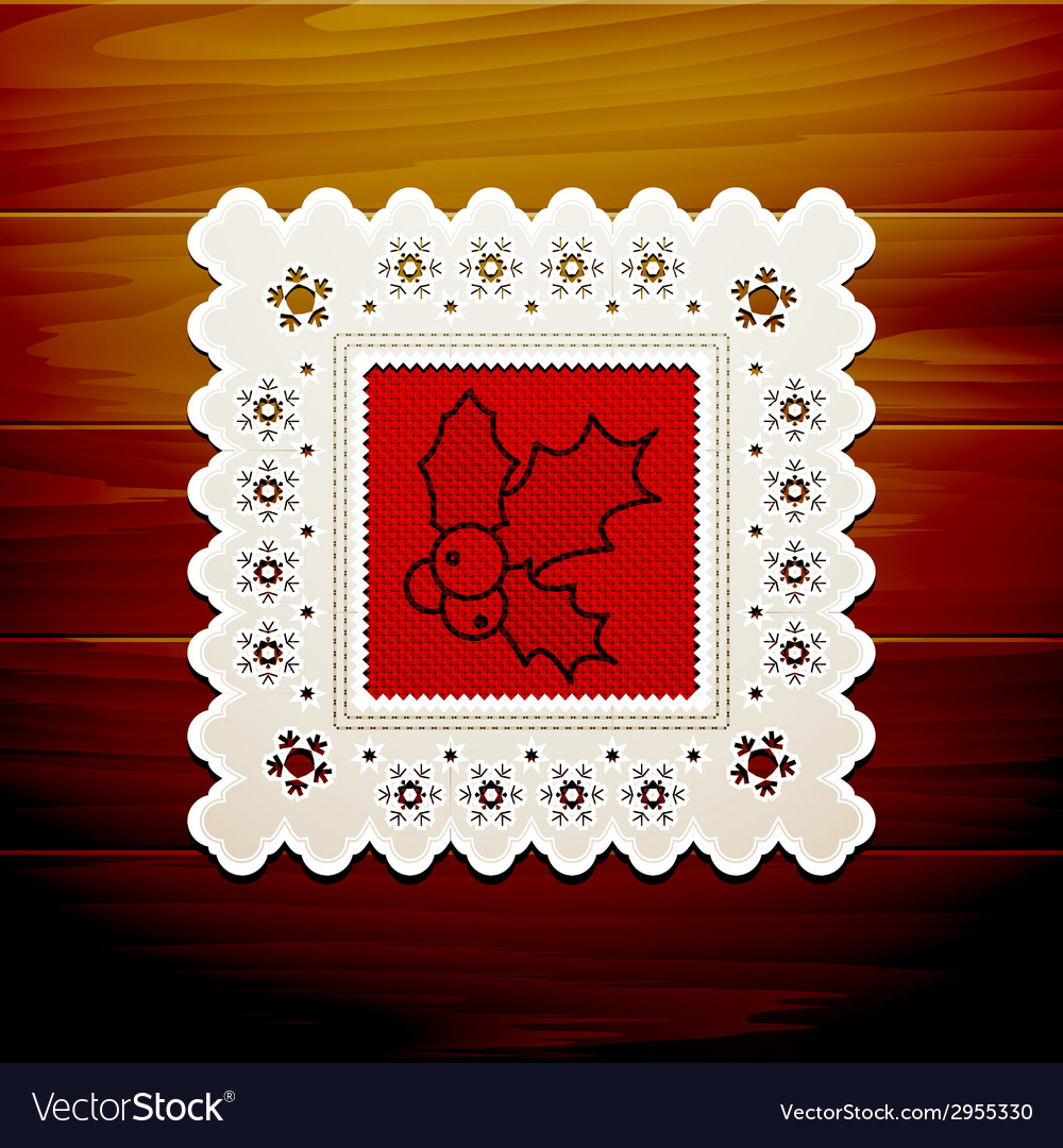 Christmas napkin table vector | Price: 1 Credit (USD $1)