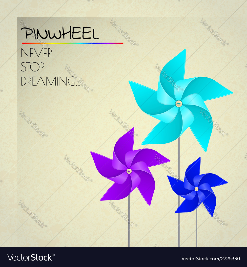 Colorful violet blue and dark blue pinwheels vector | Price: 1 Credit (USD $1)