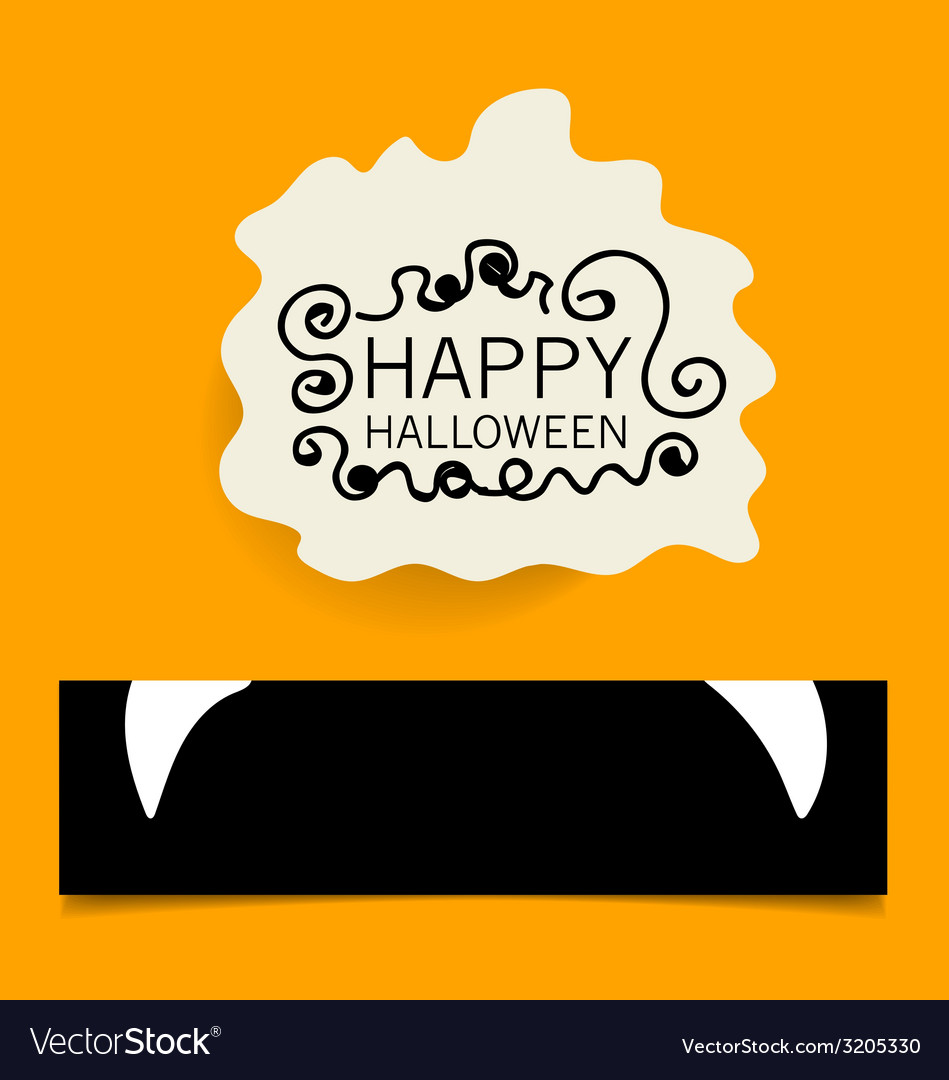Cute note papers happy halloween design background vector | Price: 1 Credit (USD $1)