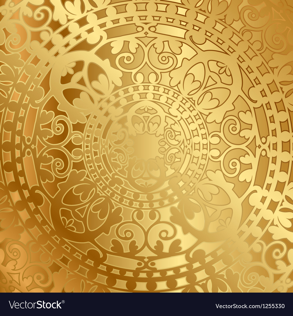 Gold background with oriental decoration vector | Price: 1 Credit (USD $1)