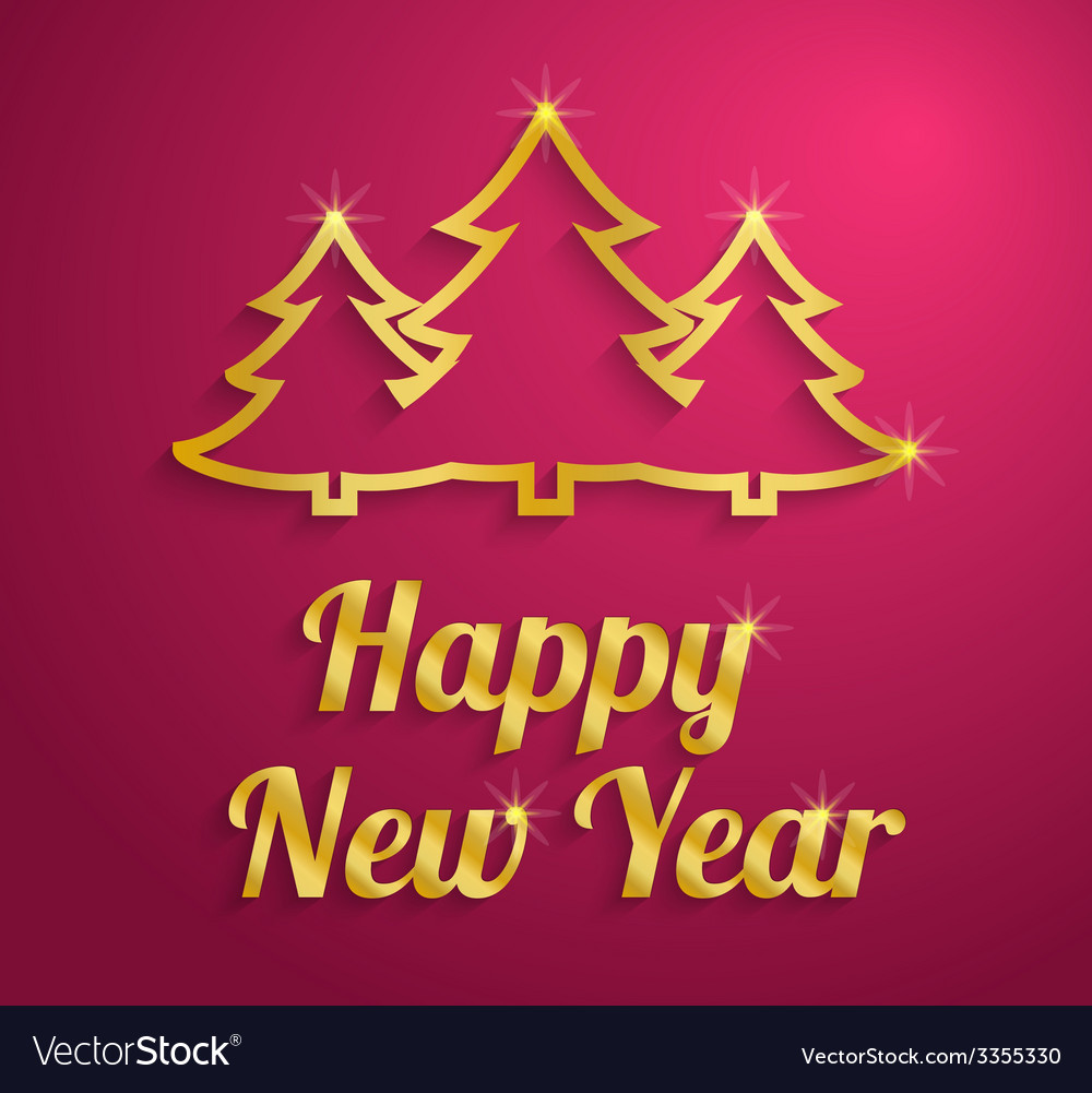 Happy new year text vector | Price: 1 Credit (USD $1)