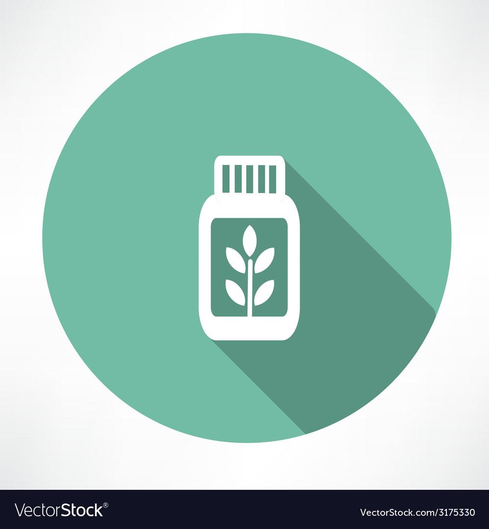 Herb medicine icon vector | Price: 1 Credit (USD $1)