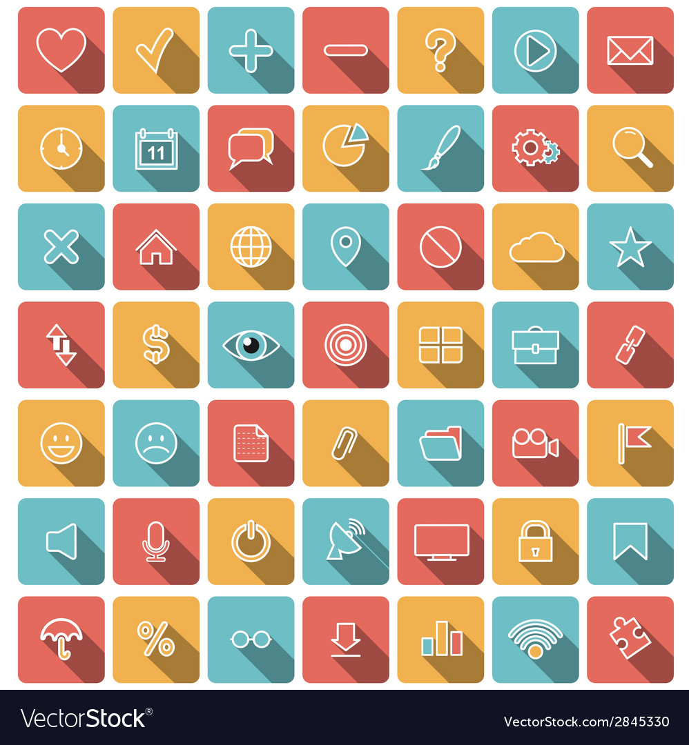 Modern flat icons collection vector | Price: 1 Credit (USD $1)