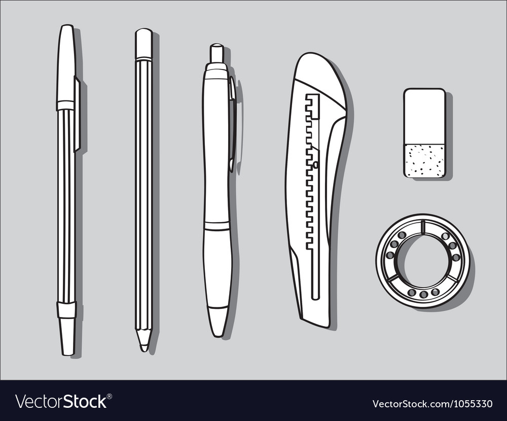 Stationary items vector | Price: 1 Credit (USD $1)