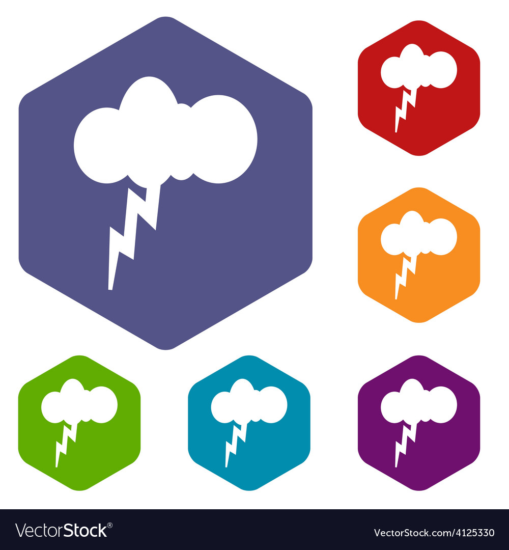 Storm rhombus icons vector | Price: 1 Credit (USD $1)