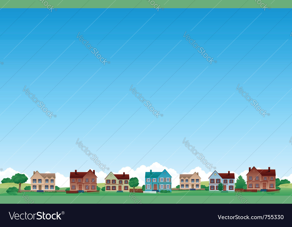 Suburb city background vector | Price: 1 Credit (USD $1)