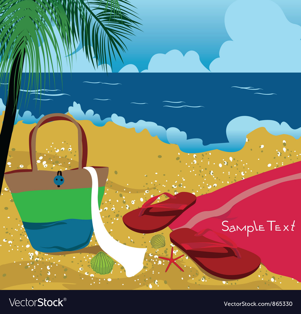 Summer background with sea creatures vector | Price: 1 Credit (USD $1)