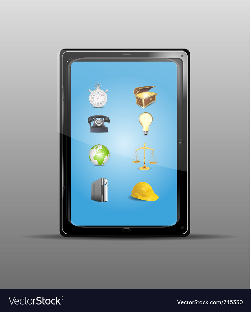 Touch screen tablet vector | Price: 1 Credit (USD $1)