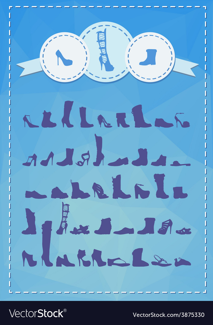 Various footwear vector | Price: 1 Credit (USD $1)