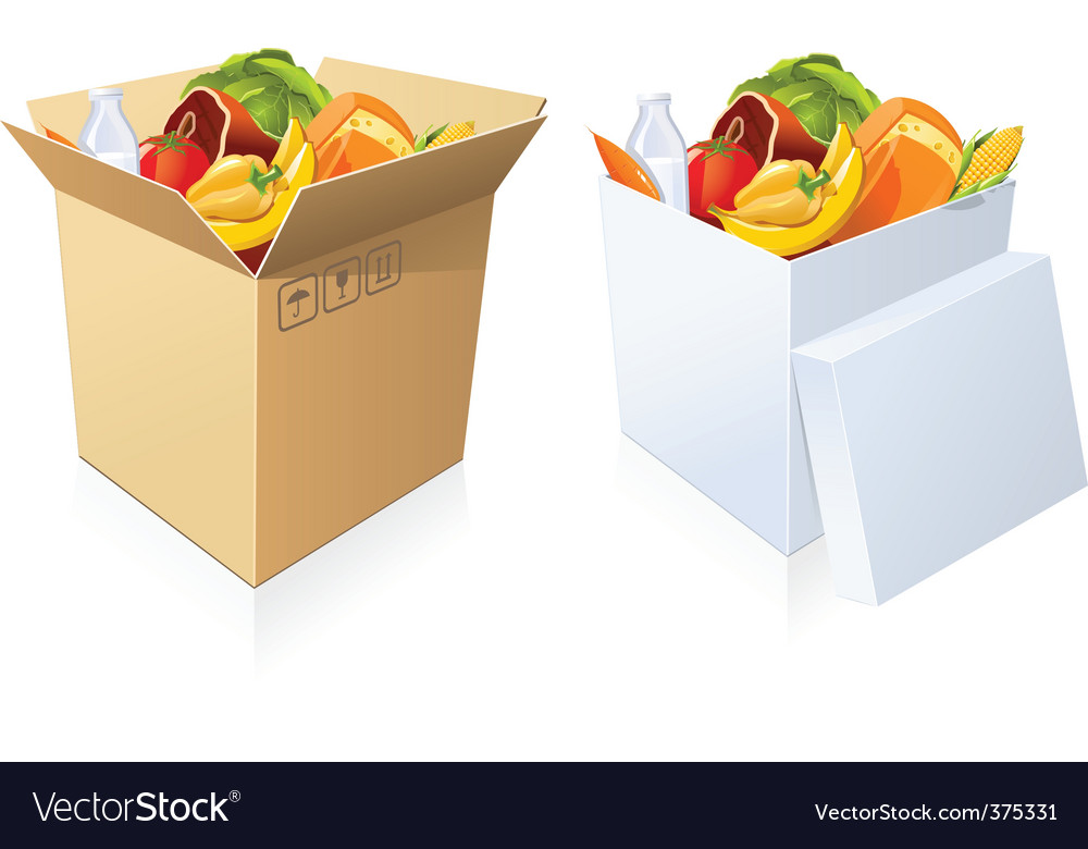 Basket of goods vector | Price: 3 Credit (USD $3)