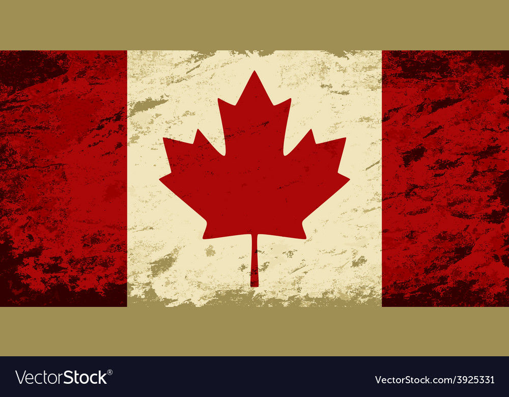 Canadian flag grunge background vector | Price: 1 Credit (USD $1)
