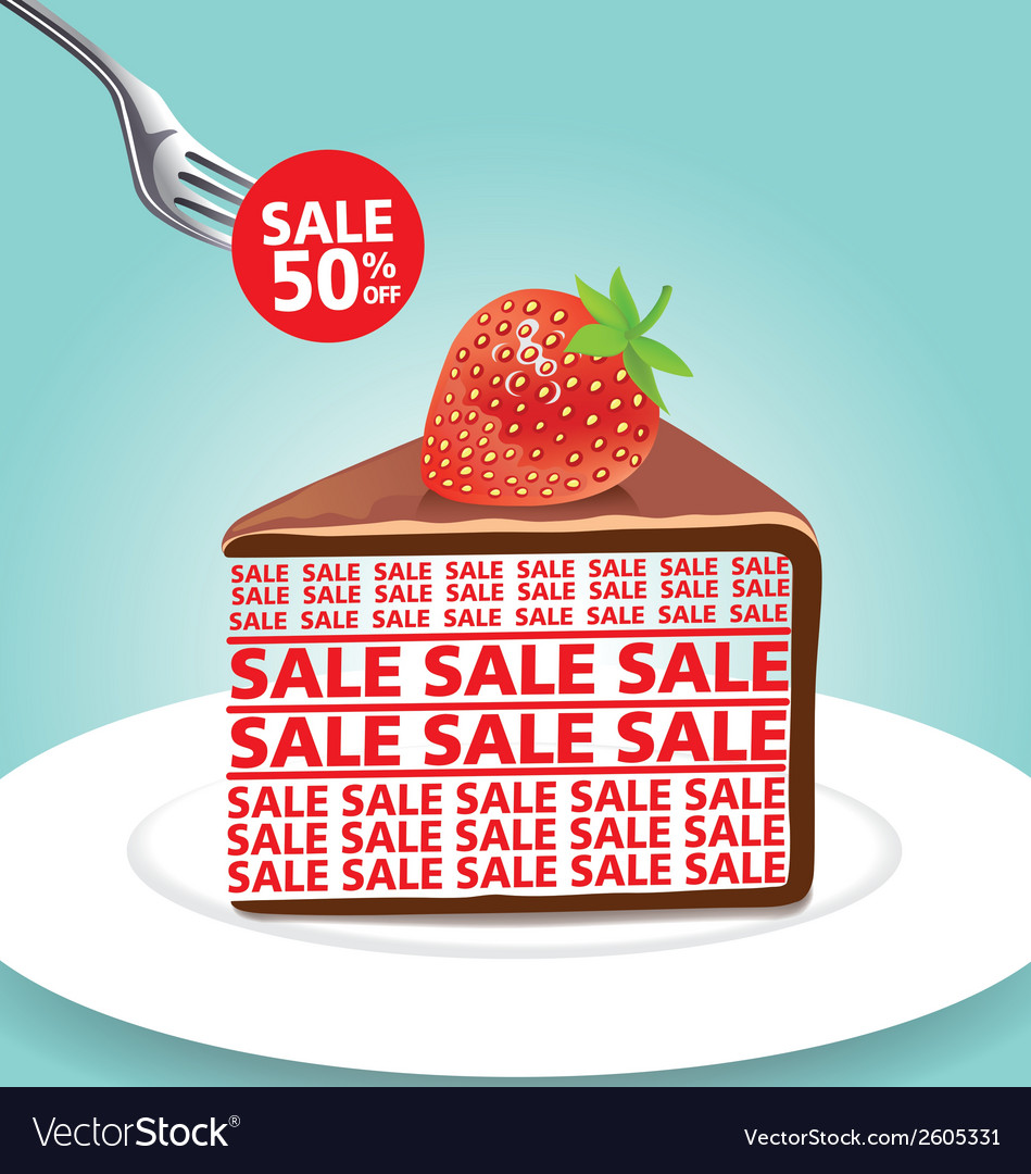 Chocolate cake 01 vector | Price: 1 Credit (USD $1)
