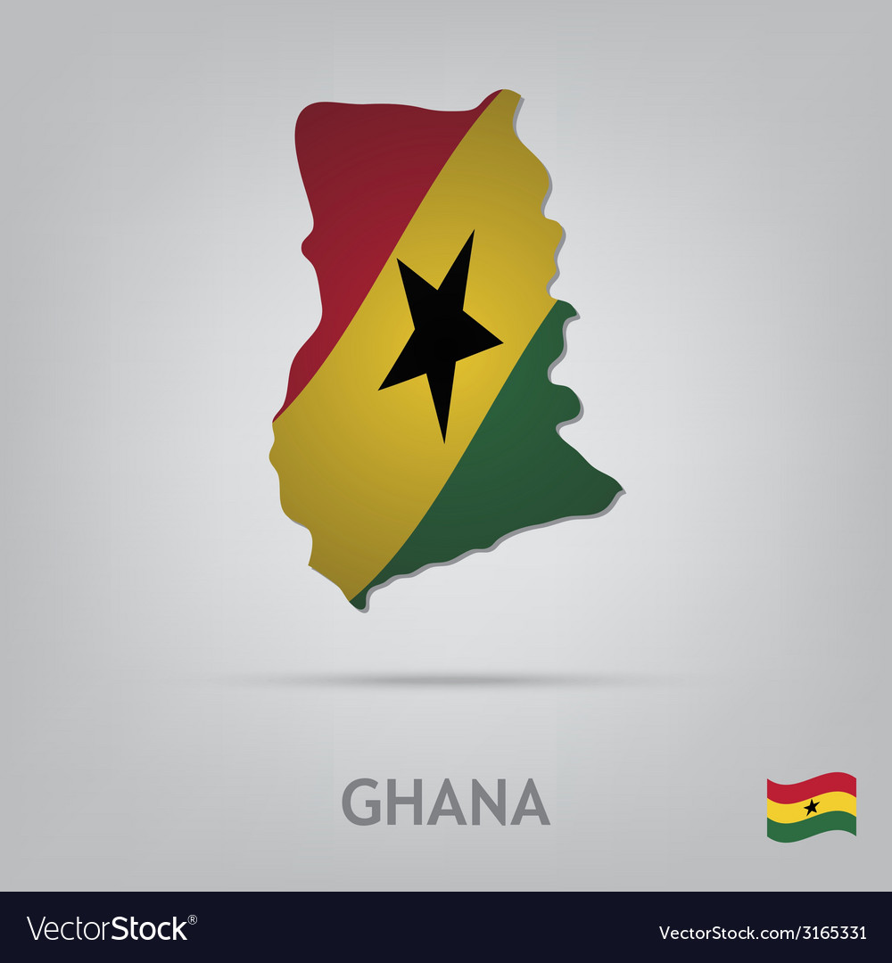 Country ghana vector | Price: 1 Credit (USD $1)