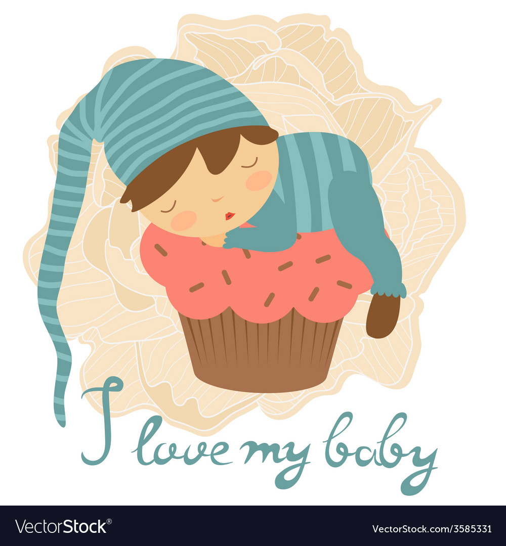 Cute baby card vector   Price: 1 Credit (USD $1)