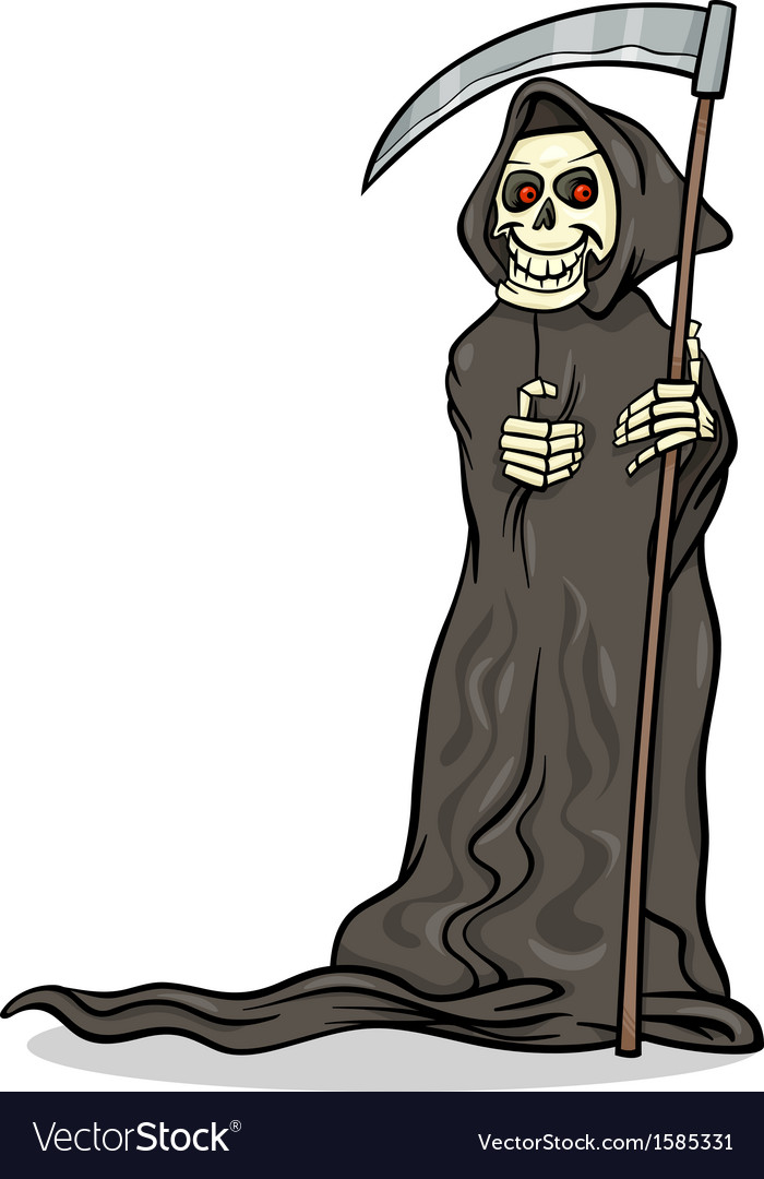 Death skeleton cartoon vector | Price: 1 Credit (USD $1)