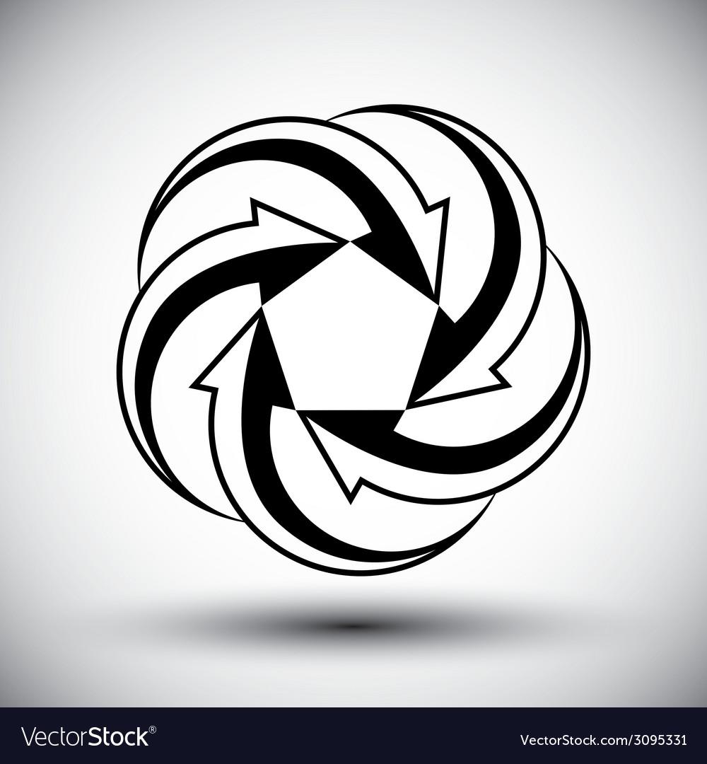 Five arrows loop conceptual icon special abstract vector | Price: 1 Credit (USD $1)