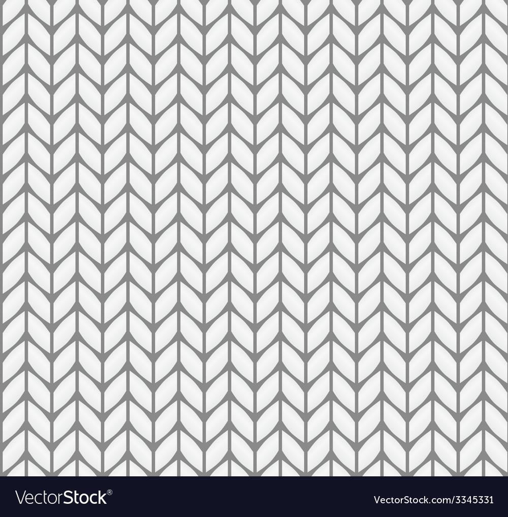 Flat knitting seamless pattern vector