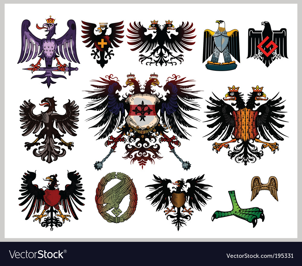 Heraldic eagles vector | Price: 3 Credit (USD $3)