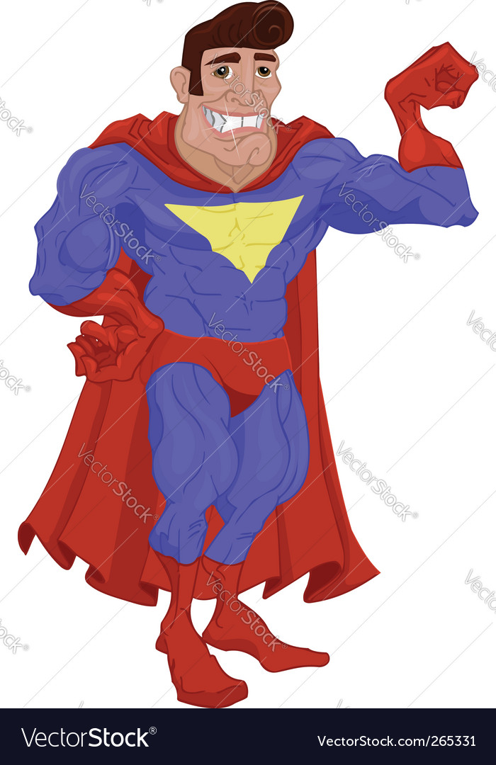 Hero cartoon vector | Price: 3 Credit (USD $3)