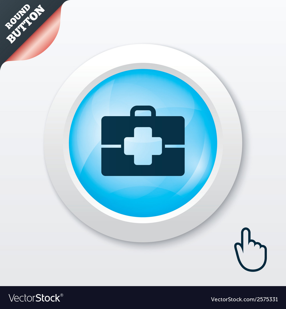 Medical case sign icon doctor symbol vector | Price: 1 Credit (USD $1)