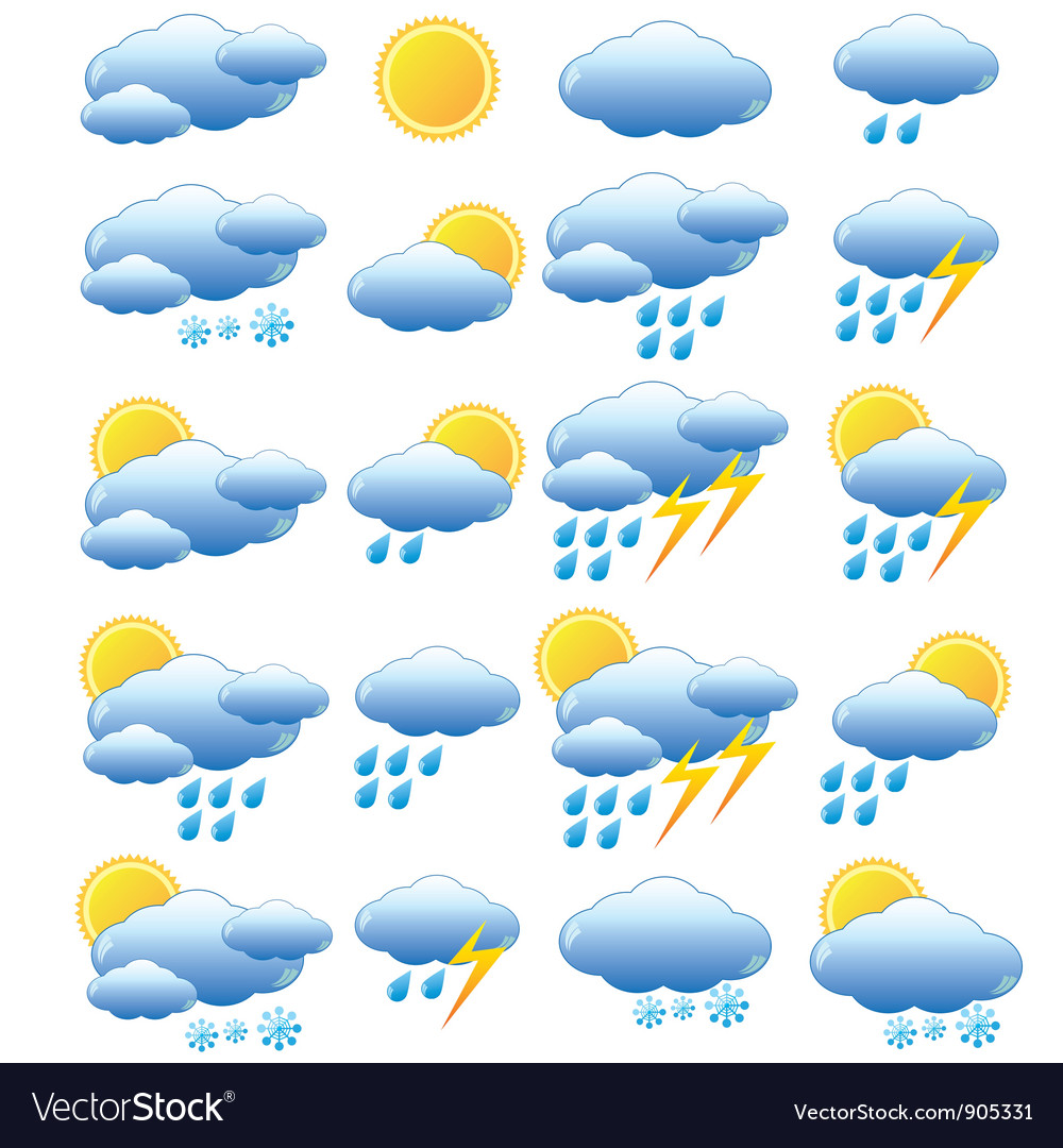 Meteorology set vector | Price: 1 Credit (USD $1)