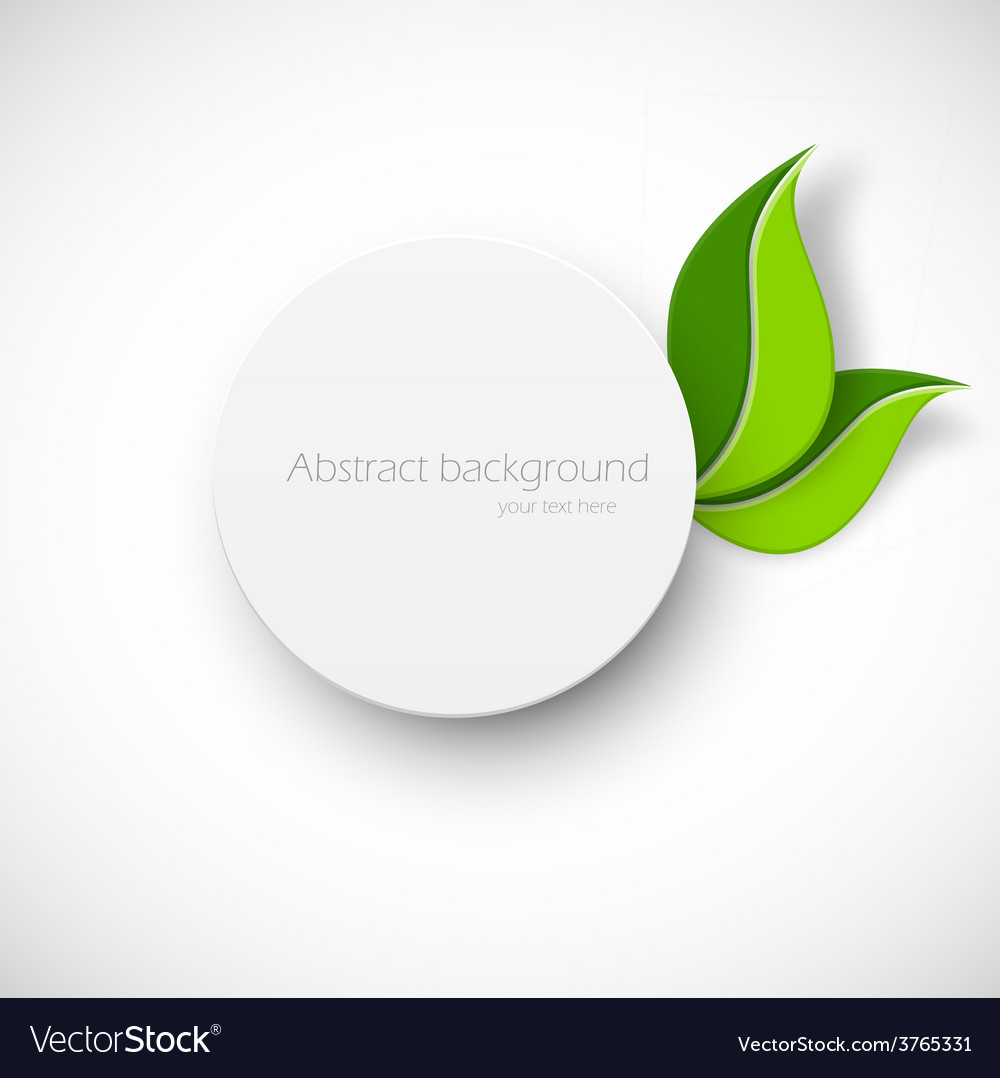 Paper white circle with leaves vector | Price: 1 Credit (USD $1)
