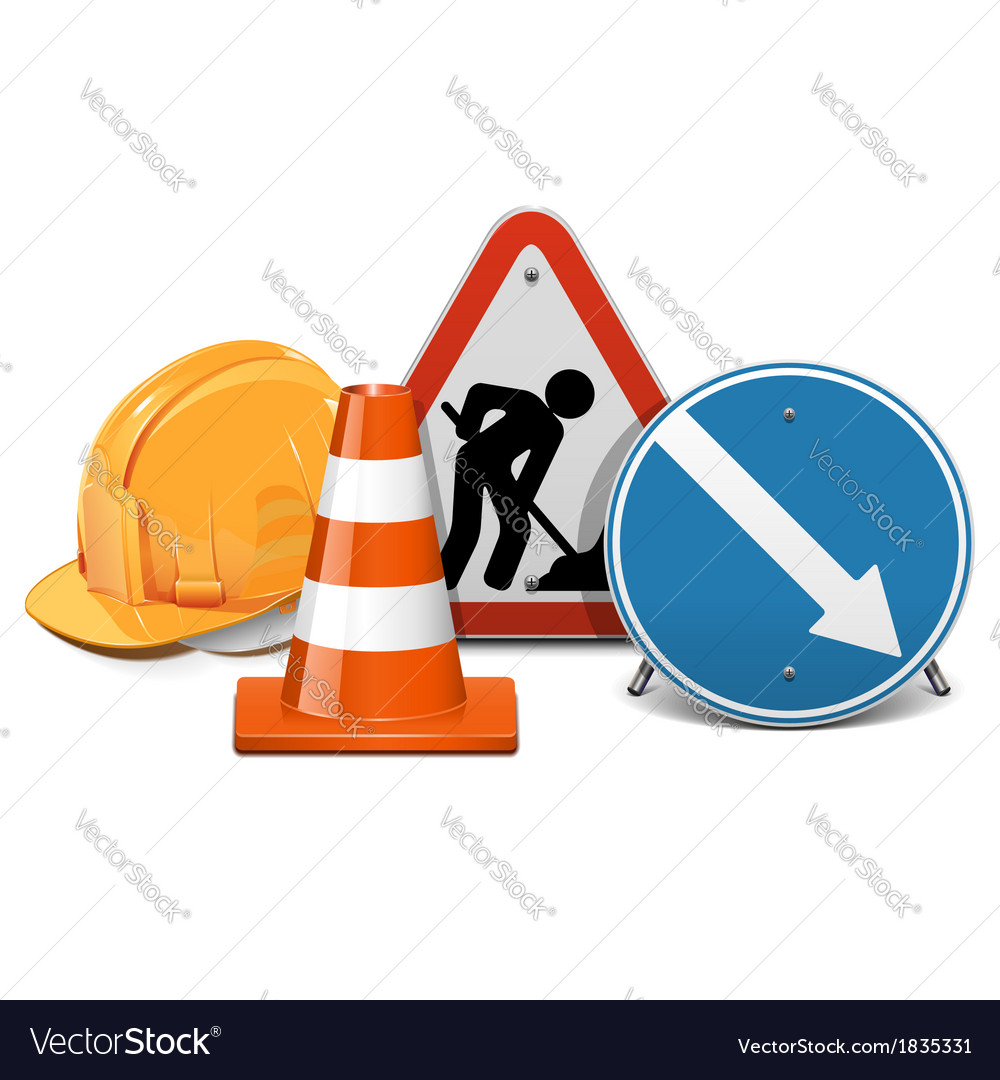 Road construction concept vector | Price: 3 Credit (USD $3)