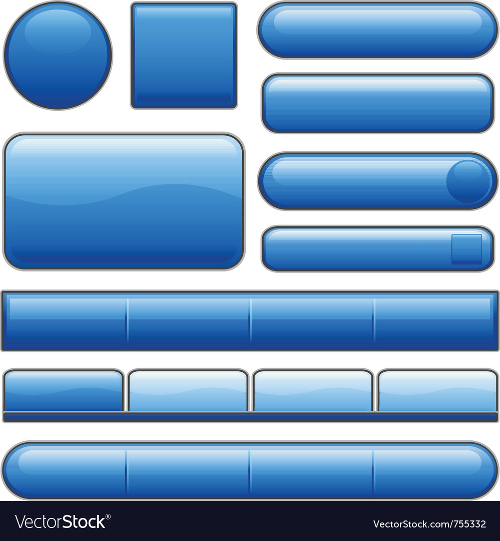 Blue glossy website internet media buttons vector | Price: 1 Credit (USD $1)