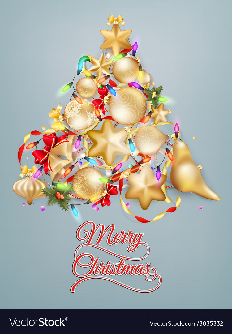 Christmas card with place for text eps 10 vector | Price: 3 Credit (USD $3)