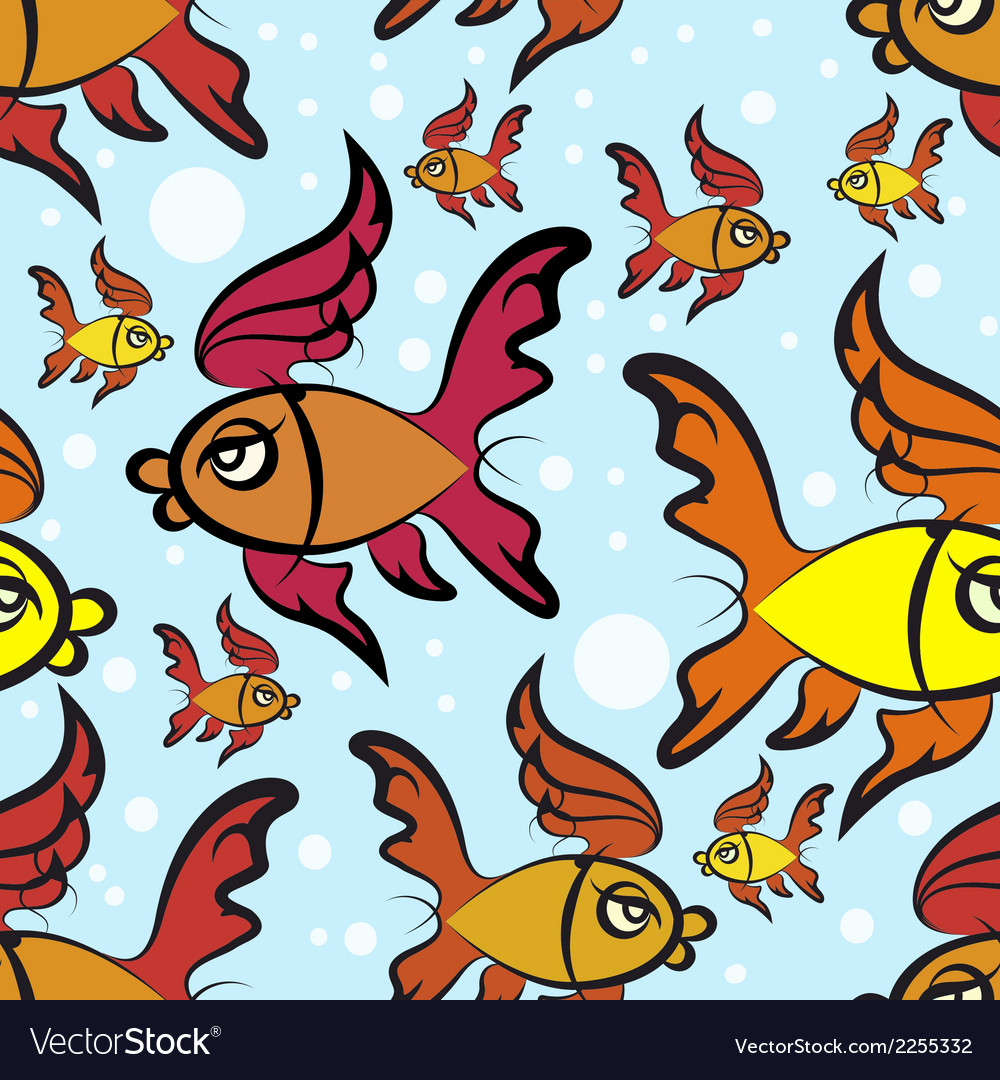 Fishes pattern vector | Price: 1 Credit (USD $1)