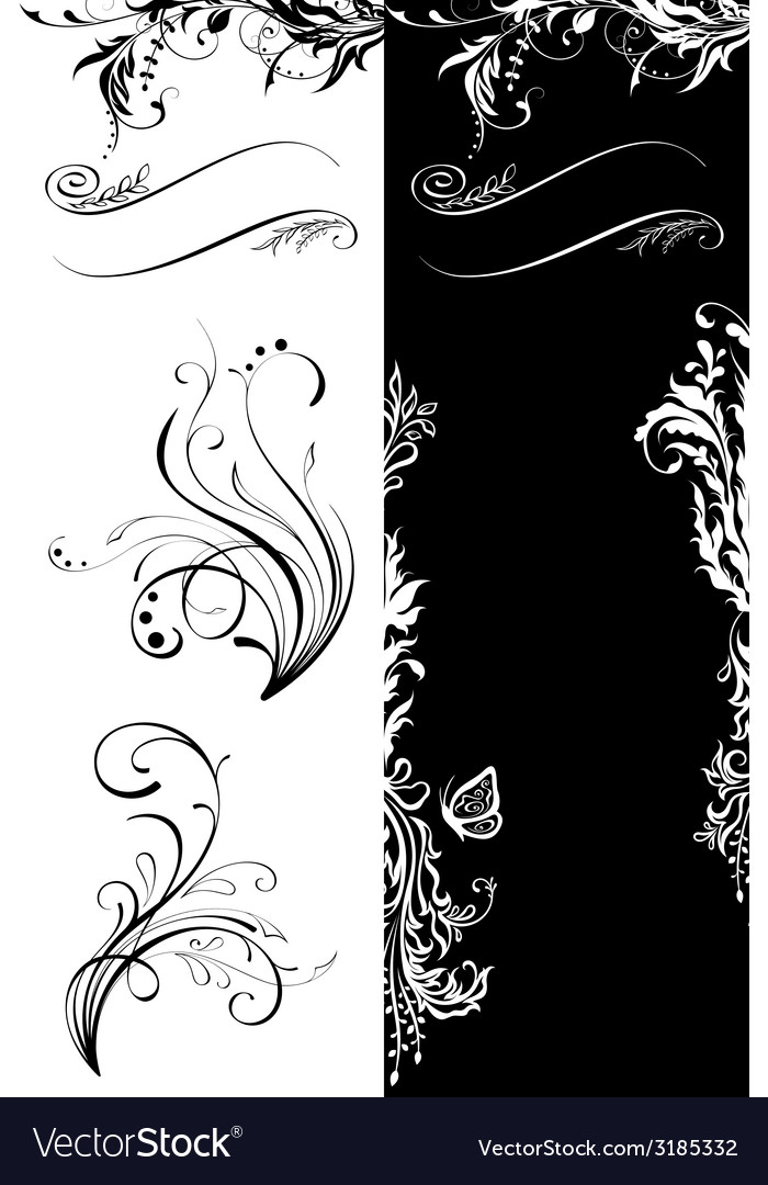 Floral decorations vector | Price: 1 Credit (USD $1)