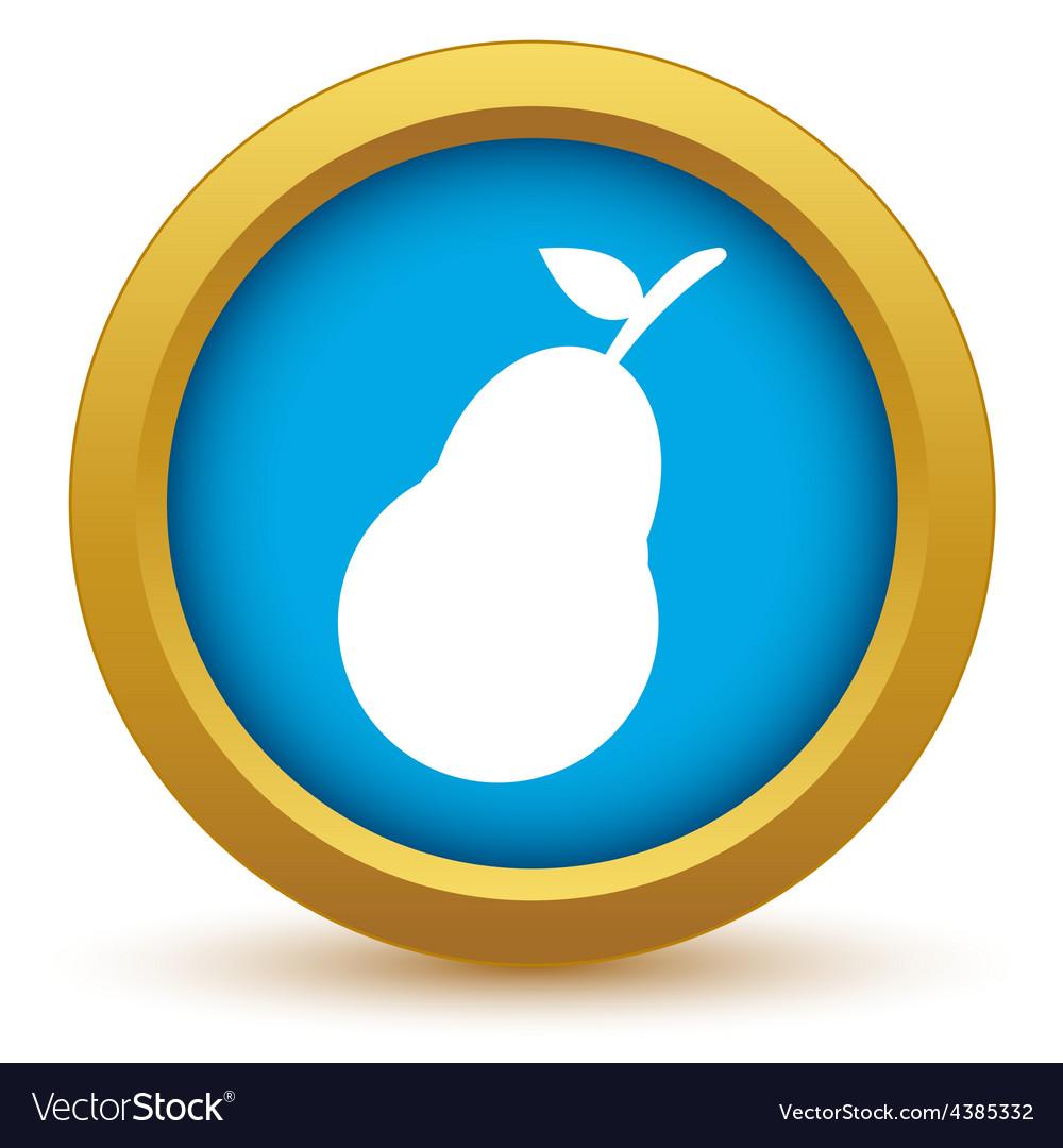 Gold pear icon vector | Price: 1 Credit (USD $1)