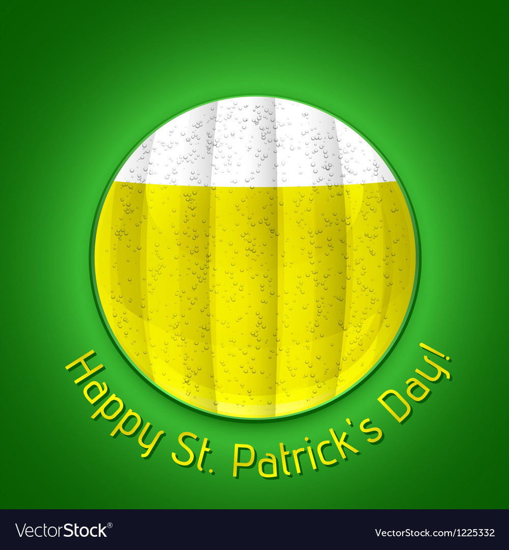 Happy st patricks day poster vector | Price: 1 Credit (USD $1)