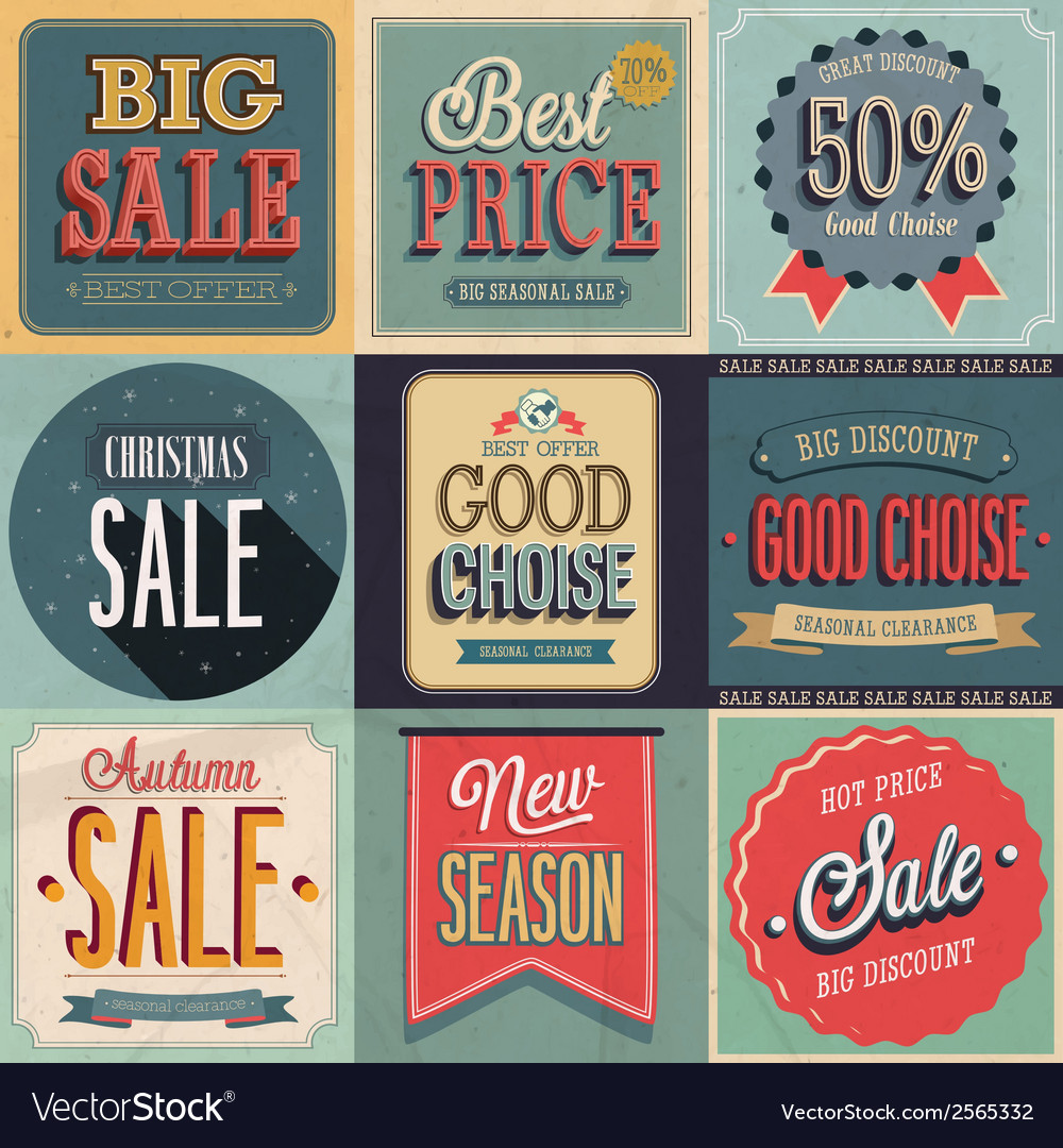 Sale set vector | Price: 1 Credit (USD $1)