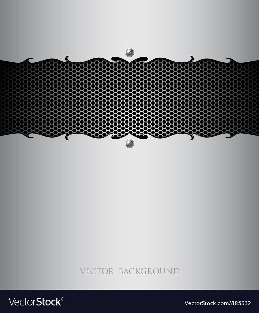 Stainless steel modern plate backgrounds vector | Price: 1 Credit (USD $1)