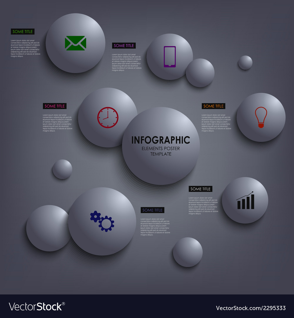 Abstract info graphic colored round element vector   Price: 1 Credit (USD $1)