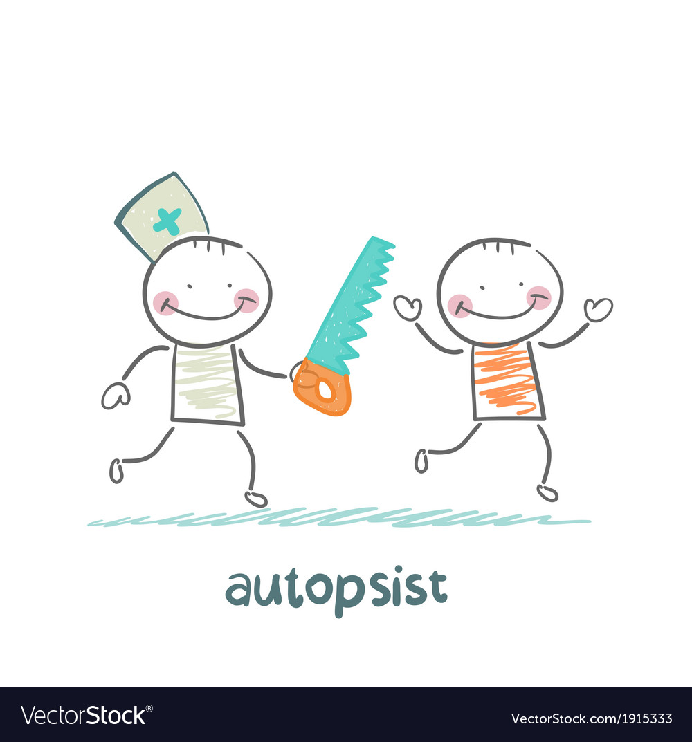 Autopsist with a saw vector | Price: 1 Credit (USD $1)
