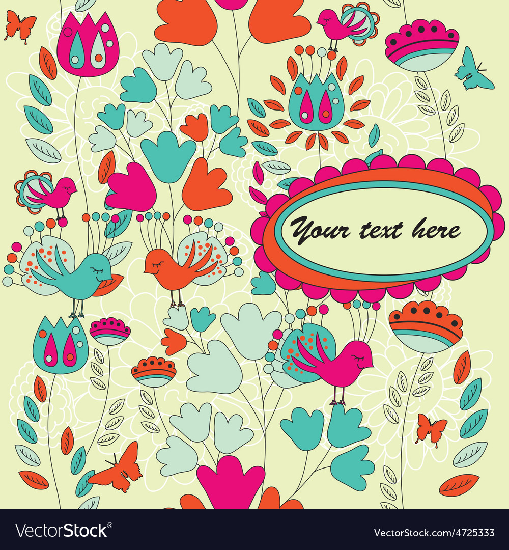Card for your text with a seamless pattern vector | Price: 1 Credit (USD $1)