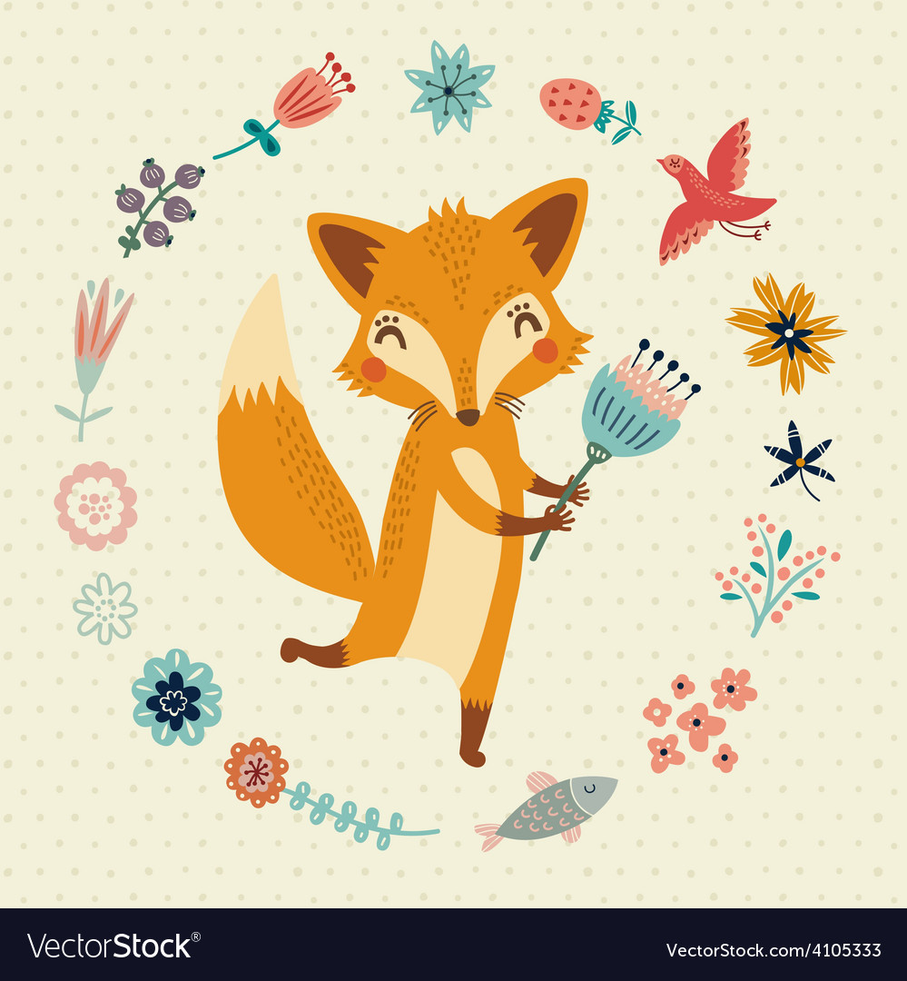 Cute foxy vector | Price: 1 Credit (USD $1)