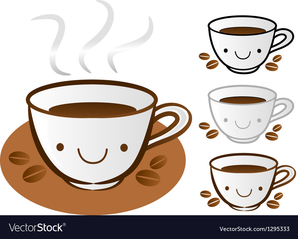 Different styles of coffee cup sets vector | Price: 1 Credit (USD $1)