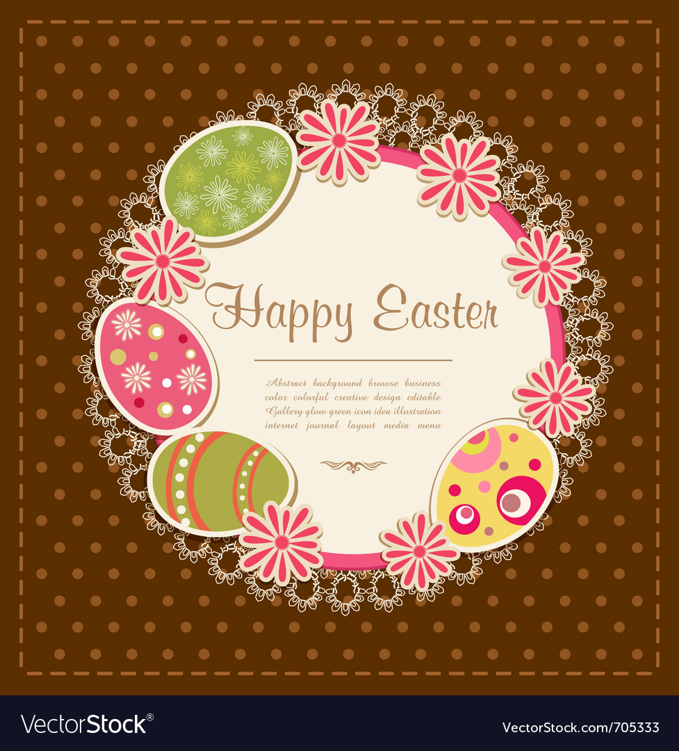 Easter holiday background vector | Price: 1 Credit (USD $1)