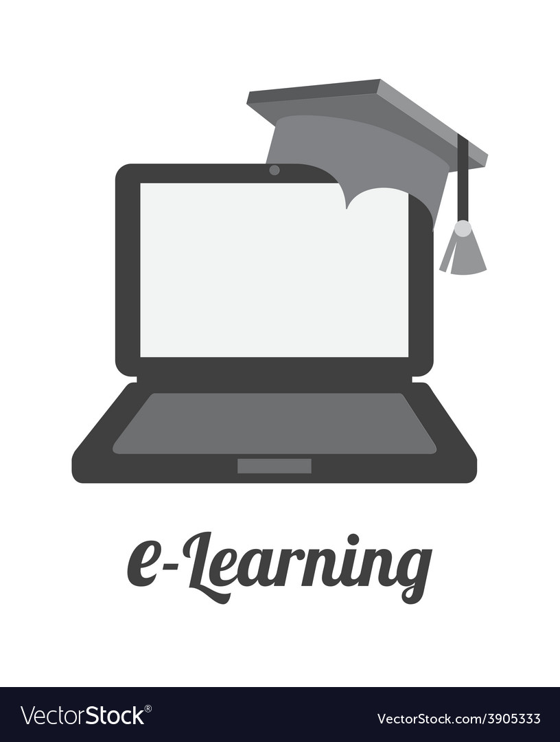 E-learning design vector | Price: 1 Credit (USD $1)