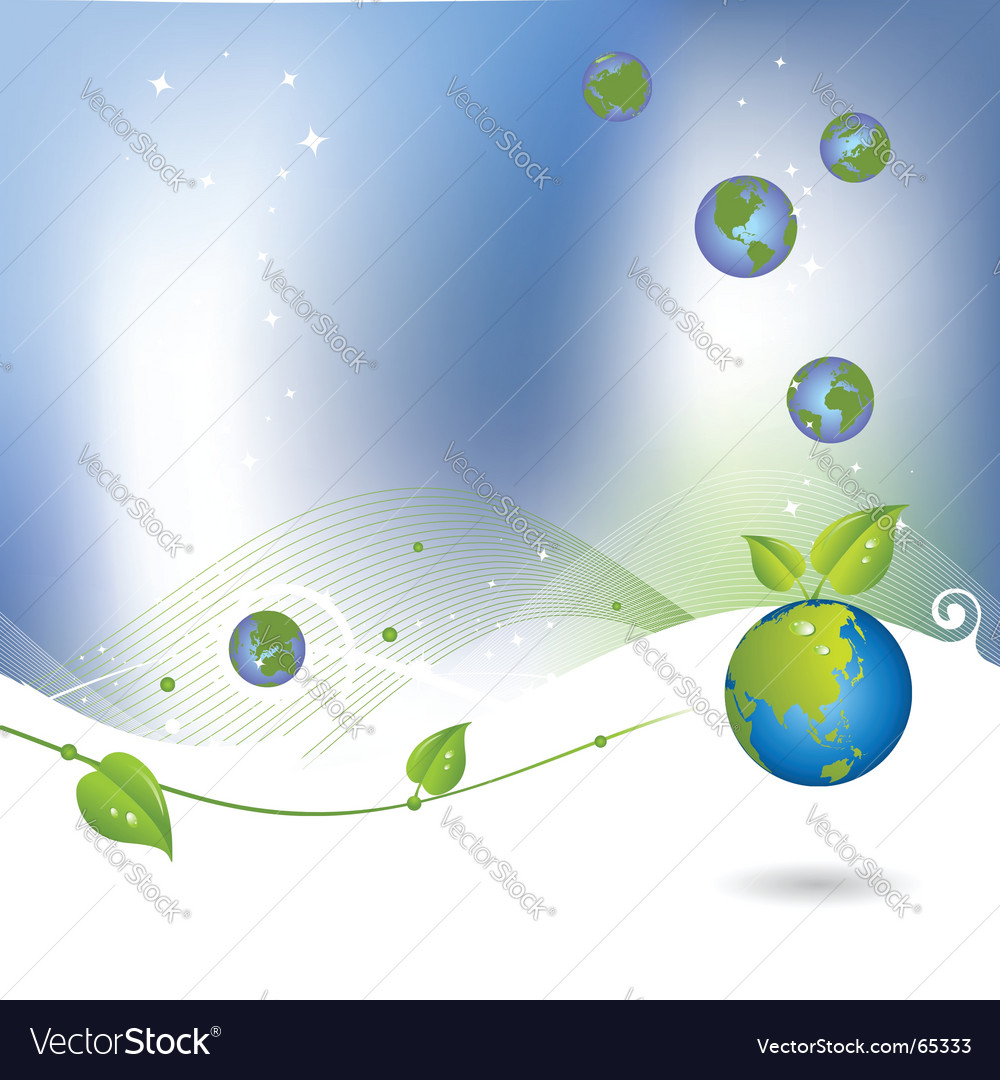 Environment background with globe icon vector | Price: 1 Credit (USD $1)