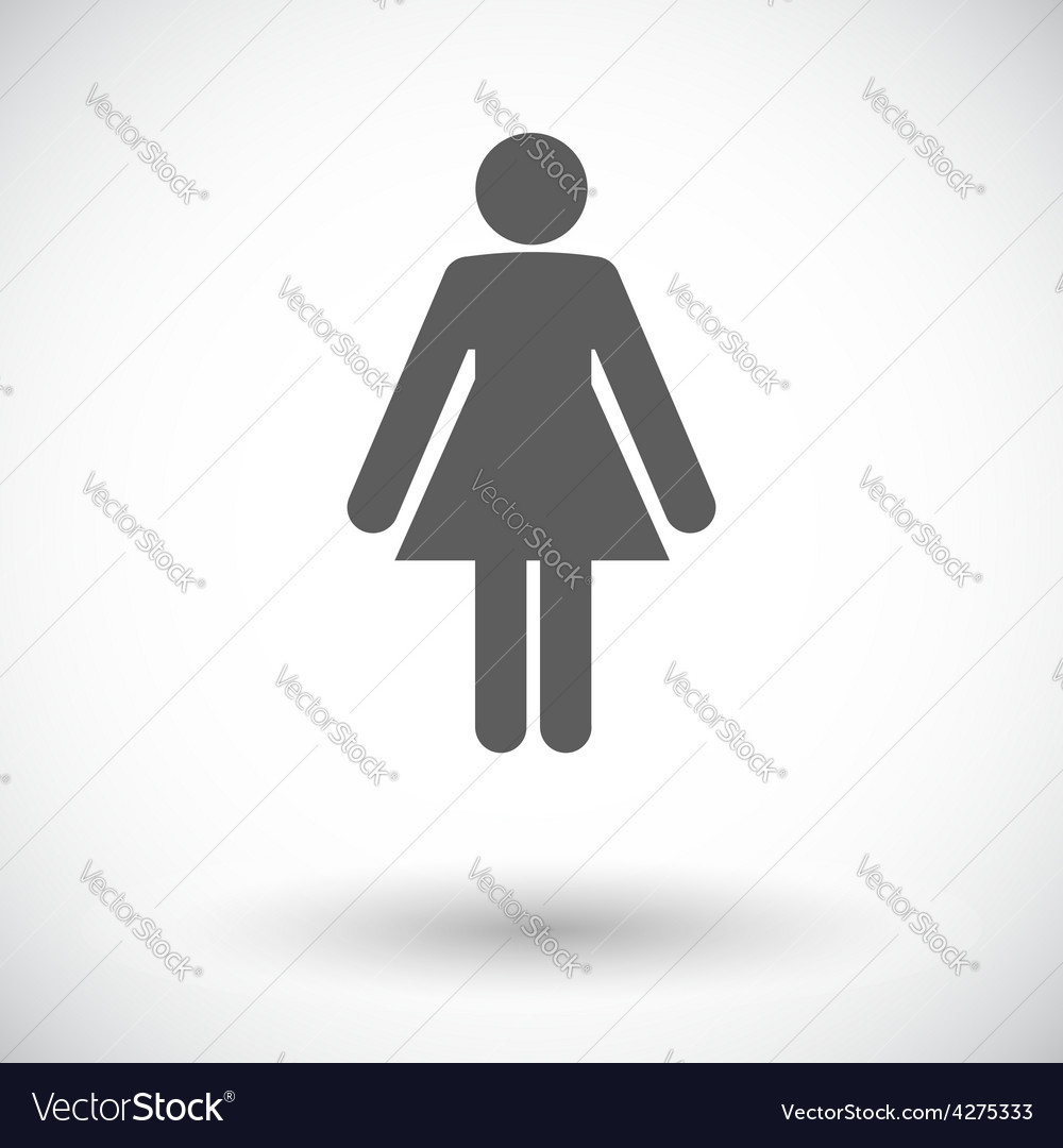 Female gender sign vector | Price: 1 Credit (USD $1)
