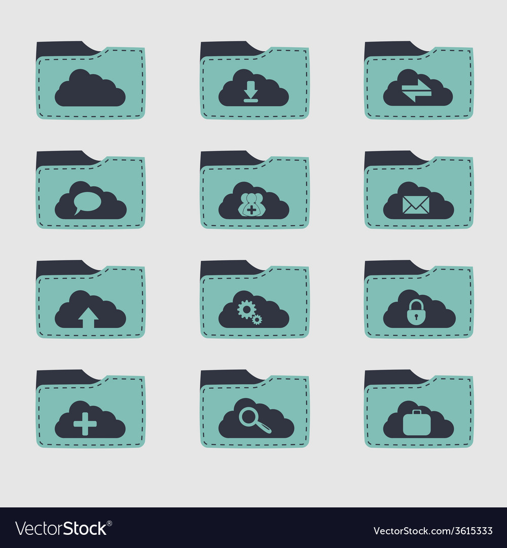 Folder set vector | Price: 1 Credit (USD $1)