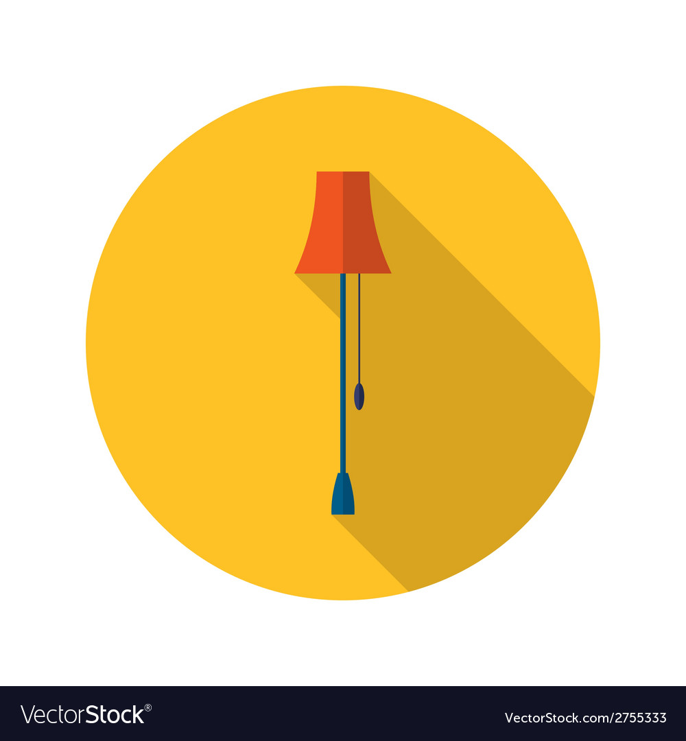 Lamp icon over yellow vector | Price: 1 Credit (USD $1)