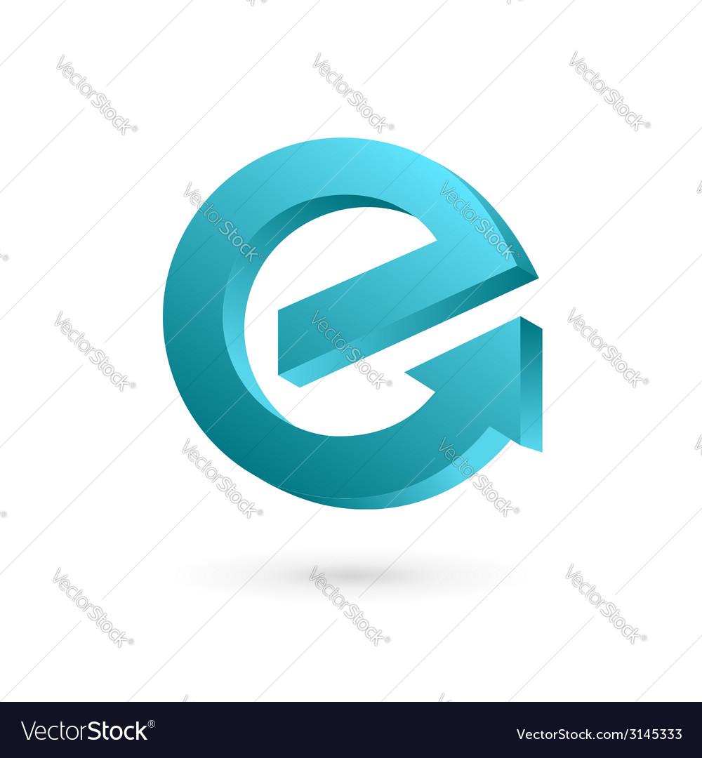 Letter e arrow logo icon design template elements vector | Price: 1 Credit (USD $1)