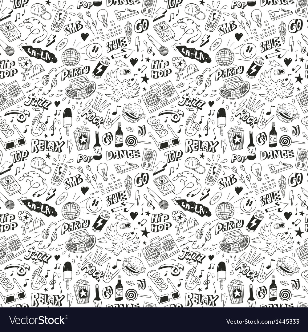 Music - seamless background vector | Price: 1 Credit (USD $1)